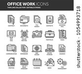 business and office work.... | Shutterstock .eps vector #1054993718