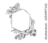 graphic floral geometry frame.... | Shutterstock .eps vector #1054997132