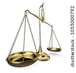 brass scale. perspective view... | Shutterstock . vector #1055000792