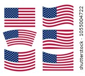 us flag collection | Shutterstock .eps vector #1055004722