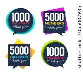 1000 followers and members  ... | Shutterstock .eps vector #1055007935