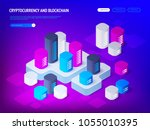 cryptocurrency blockchain... | Shutterstock .eps vector #1055010395