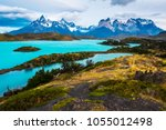 torres del paine national park  ... | Shutterstock . vector #1055012498