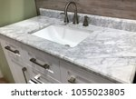 marble countertop with... | Shutterstock . vector #1055023805
