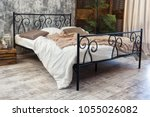 Large Double Wrought Iron Bed....