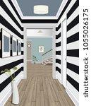 modern classic hall hallway...   Shutterstock .eps vector #1055026175