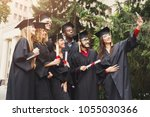 a group of multietnic students...   Shutterstock . vector #1055030366