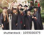 a group of multietnic graduate...   Shutterstock . vector #1055030375
