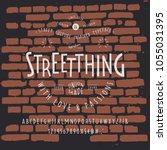 font streetthing. craft retro... | Shutterstock .eps vector #1055031395