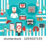 medical infographic concept...   Shutterstock .eps vector #1055037155