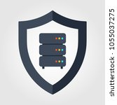 data server security icon | Shutterstock .eps vector #1055037275