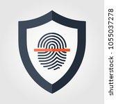 fingerprint scan icon | Shutterstock .eps vector #1055037278