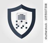 data encryption information... | Shutterstock .eps vector #1055037308