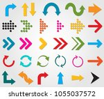 arrow signs direction ui | Shutterstock .eps vector #1055037572