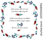 floral frame. traditional... | Shutterstock .eps vector #1055040896