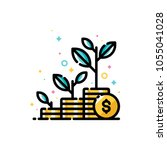 financial investments or money... | Shutterstock .eps vector #1055041028