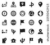 flat vector icon set   compass... | Shutterstock .eps vector #1055042915