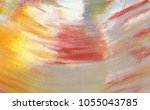 colorful abstract painting... | Shutterstock . vector #1055043785