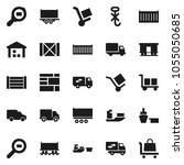 flat vector icon set   railway... | Shutterstock .eps vector #1055050685