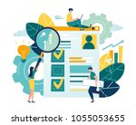 flat vector illustration  web... | Shutterstock .eps vector #1055053655