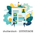 flat vector illustration  web... | Shutterstock .eps vector #1055053658