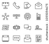 flat vector icon set  ... | Shutterstock .eps vector #1055054675