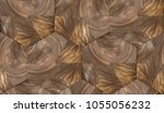 wood nut design hexagon 3d...   Shutterstock . vector #1055056232
