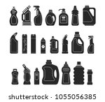 set silhouette icon different... | Shutterstock .eps vector #1055056385