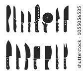 set icon silhouette kitchen... | Shutterstock .eps vector #1055056535