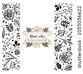 flower logo template. floral... | Shutterstock .eps vector #1055056622