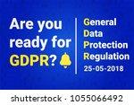 gdpr   general data protection. ... | Shutterstock .eps vector #1055066492