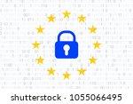 gdpr   general data protection... | Shutterstock .eps vector #1055066495