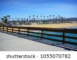 Small photo of Orange County California skyline and beach from pier