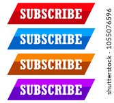 flat  tilted subscribe button....