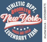 new york brooklyn sport wear... | Shutterstock .eps vector #1055084975