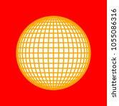 globe sign illustration. 21... | Shutterstock .eps vector #1055086316