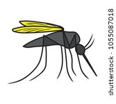 mosquito icon vector | Shutterstock .eps vector #1055087018