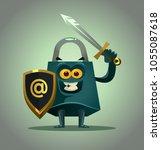 Strong Lock Character Mascot...
