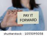 closeup on business woman... | Shutterstock . vector #1055095058
