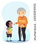 illustration of a stickman kid... | Shutterstock .eps vector #1055095955