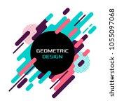 modern abstract geometric... | Shutterstock .eps vector #1055097068