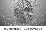 artificial intelligence ai deep ... | Shutterstock . vector #1055098985