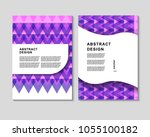 the abstract colorful... | Shutterstock .eps vector #1055100182
