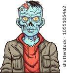 Cartoon Serious Zombie. Vector...