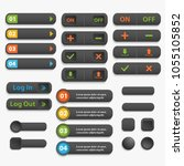 web  buttons  realistick... | Shutterstock .eps vector #1055105852