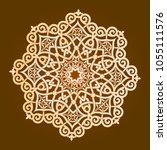 backgorund f round patterns | Shutterstock .eps vector #1055111576