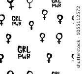 girl power venus feminist... | Shutterstock .eps vector #1055112572