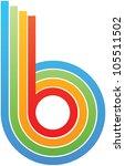 colorful letter b | Shutterstock .eps vector #105511502