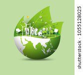 green earth of eco friendly... | Shutterstock .eps vector #1055128025