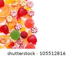 colorful jelly candies isolated ... | Shutterstock . vector #105512816